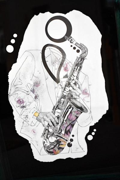 Saxophone Identity Art | thomaselockhart