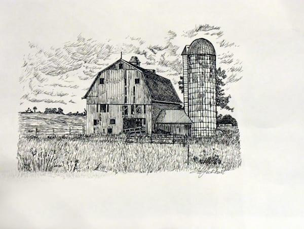 Barn And The Tower Art | thomaselockhart