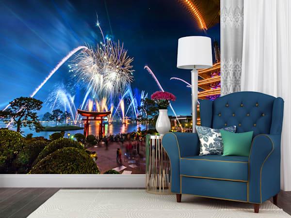 Epcot Fireworks Spectacular 4 - Disney Wall Murals | William Drew