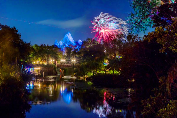 Everest Fireworks 1 - Disney Art for Sale | William Drew