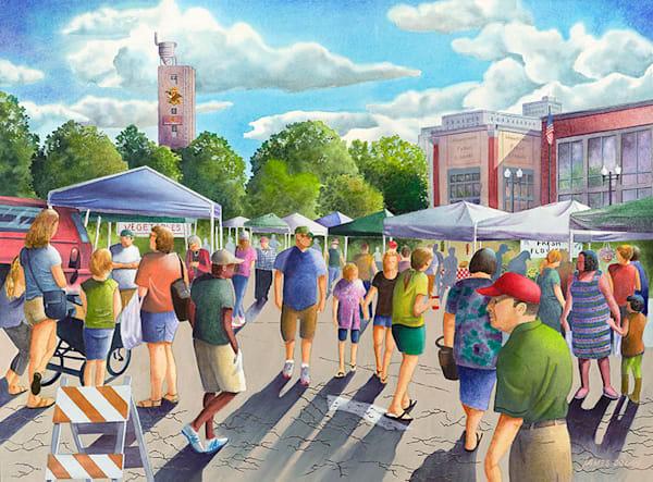 Farmer's Market fine art print by Jim Dolan.