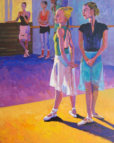 "Rehearsal Break, 24"" x 30"" original oil on canvas painting by Matt McLeod"
