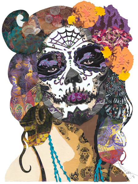 DAY OF THE DEAD FEMALE (PURPLE)