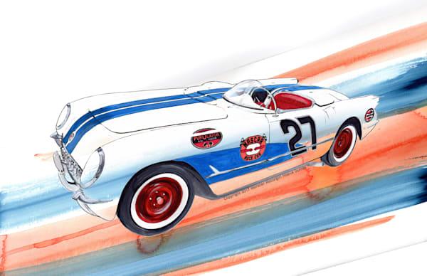 Racer 53 Painting Rwb 2 Art | Motorgirl Studios