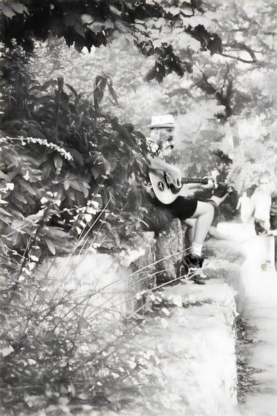 Guitarist Woody Wood on Neff Point, Austin