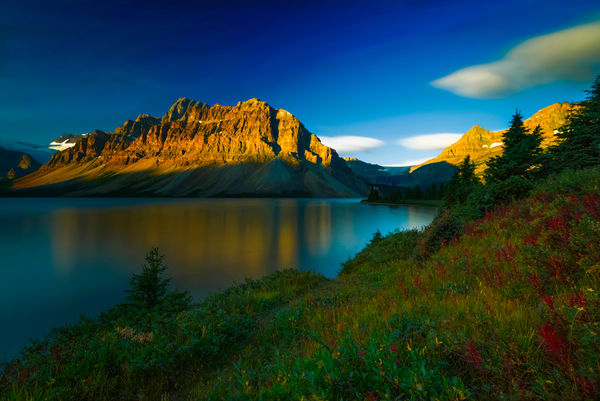 Crowfoot Mtn. & Bow Lake in Banff. |Canadian Rockies|Rocky Mountains|Banff national Park|