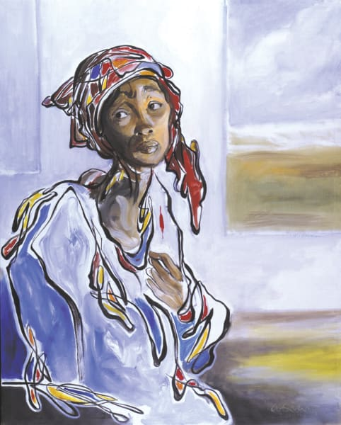 Pensive Woman Art | Sandy Garnett Studio