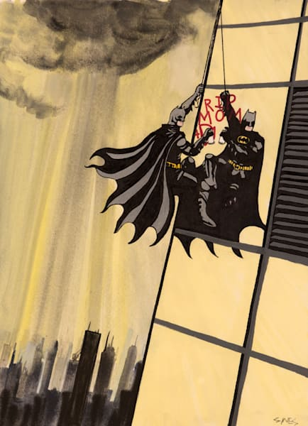 RIP MOM + DAD Batman Painting - Art Prints on Canvas and Paper