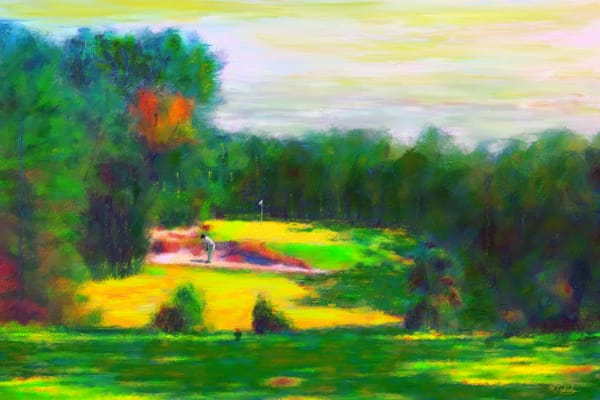 Pine Valley golf painting | Sports artist Mark Trubisky | Custom Sports Art