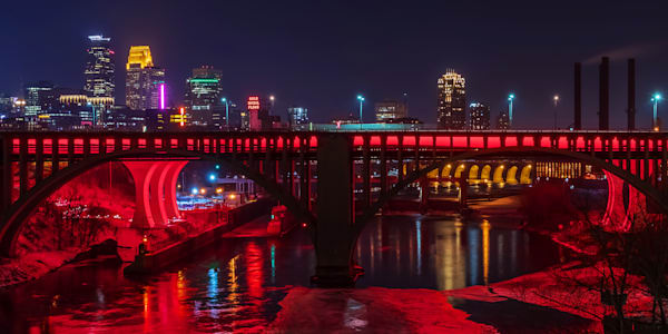 Minneapolis Red 4 - City Art | William Drew Photography