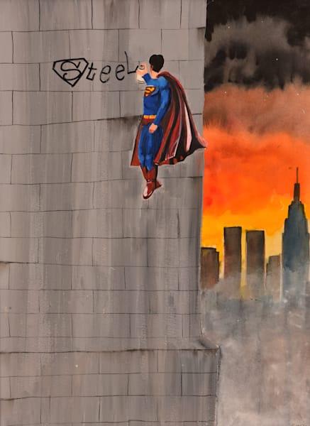 Steel - Superman Painting by Brandon Sines - Affordable Art