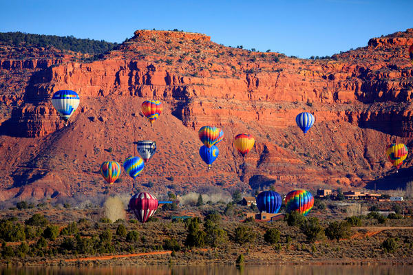 Kanab Hot Air Balloons Art Prints