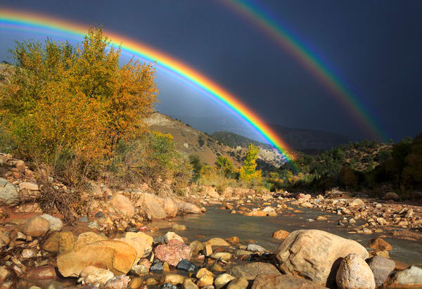 Ceder Canyon Rainbow Art Prints