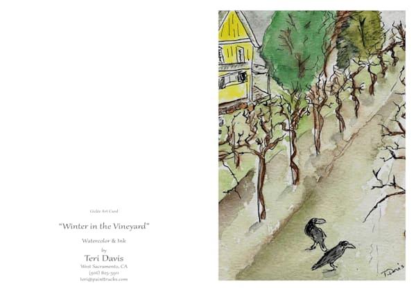 5x7 Winter In The Vineyard Card | HFA print gallery