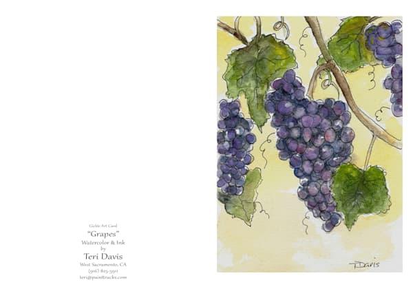 5x7 Grapes Card | HFA print gallery