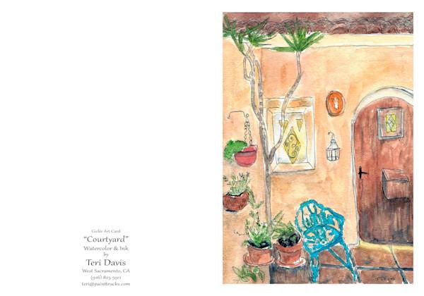 5x7 Courtyard Card | HFA print gallery