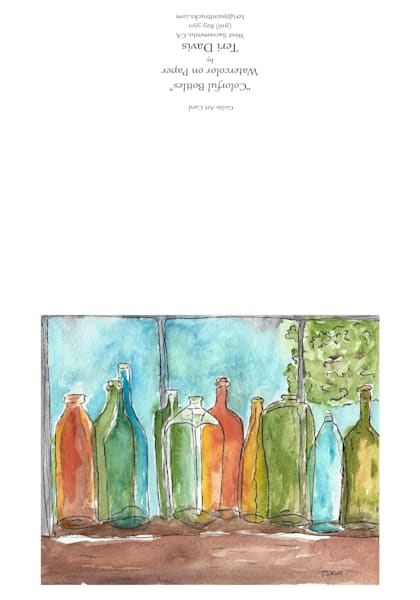 5x7 Colorful Bottles Card | HFA print gallery