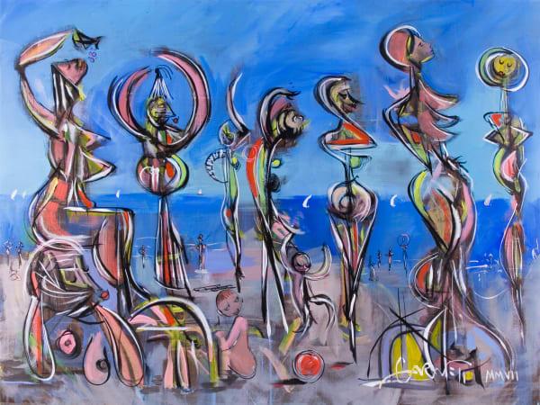Beach Dancers Art | Sandy Garnett Studio