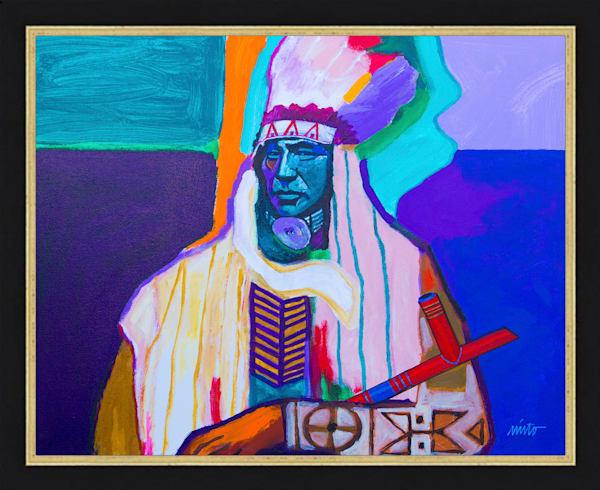 Chief Rain in the Face | John Nieto Original Framed Art