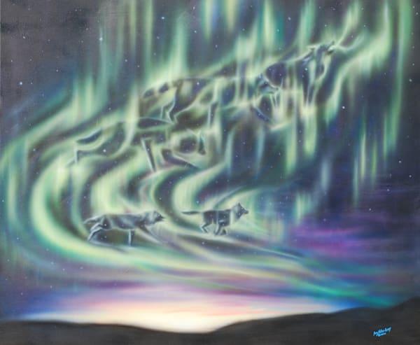 Sky Dance   Wolf Pack Art | Amy Keller Rempp Art