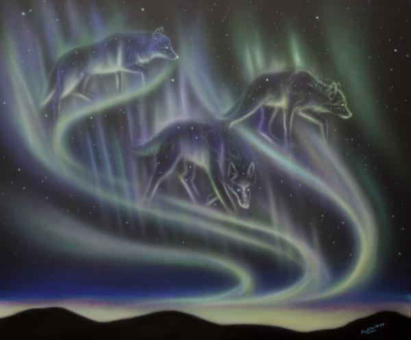Sky Dance   Wolves Art | Amy Keller Rempp Art
