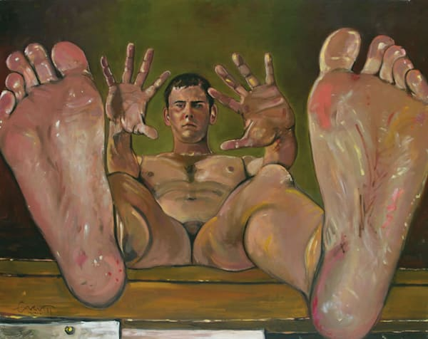 Self-Portrait with Feet