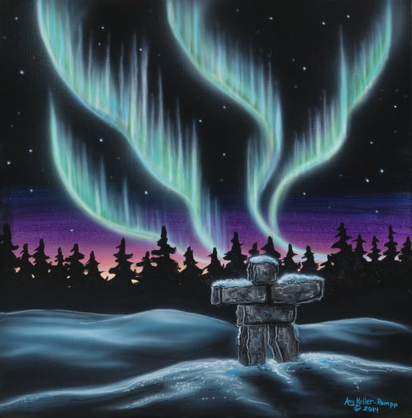 Sky Dance Inukshuk Art | Amy Keller Rempp Art
