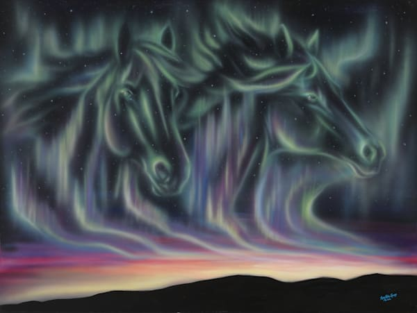 Sky Dance   Horses Art | Amy Keller Rempp Art