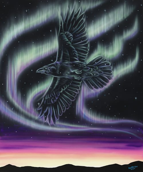 Sky Dance   Raven Art | Amy Keller Rempp Art