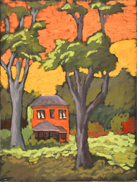 Lone House From The Park Art | Keith Thirgood