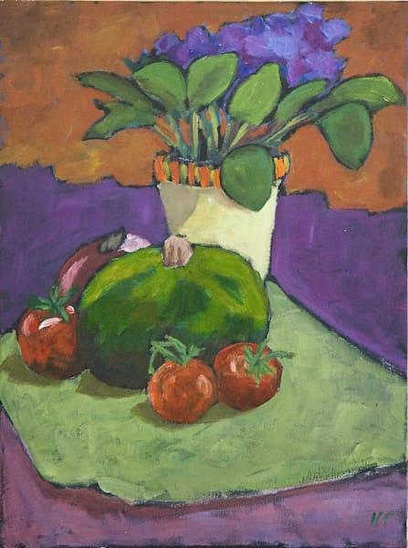 Still Life, Green Gourd