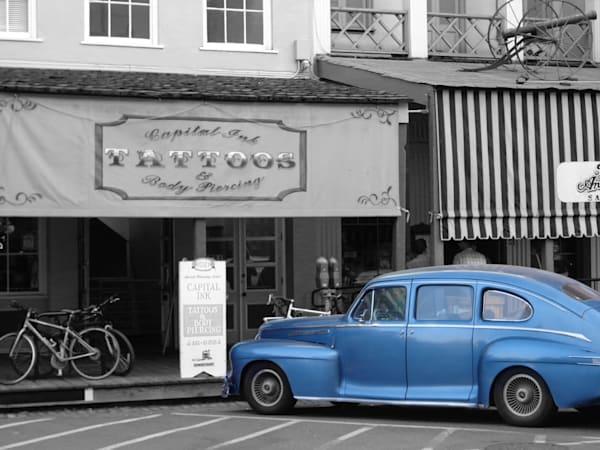 12x16 Blue Car On Paper | HFA print gallery
