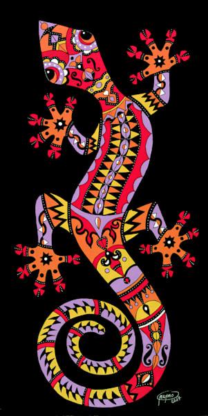 An Acrylic Original Piece of Art called '' Sunset Gecko''