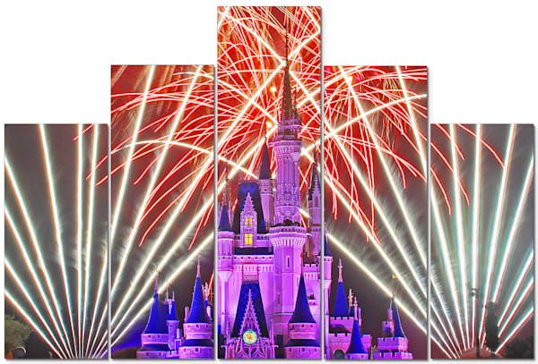 Cinderella's Castle Wishes - 5 Piece Disney Canvas Art | William Drew