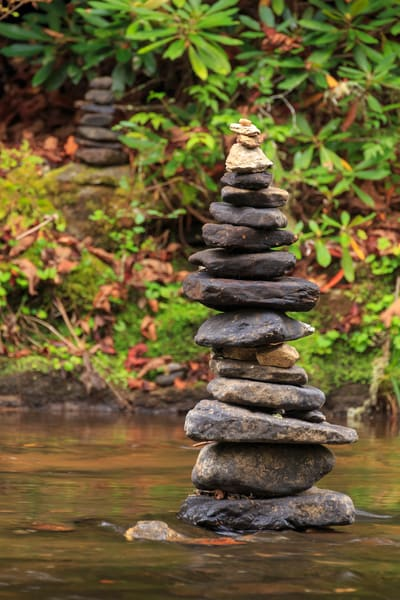 Water Wall Art: Stone Stack