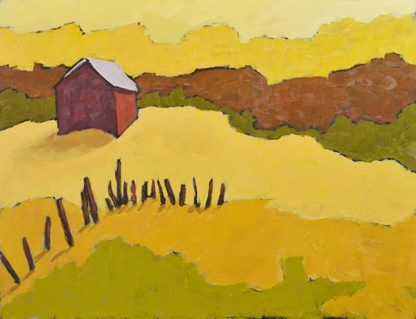 Lone Barn in Golden Fields