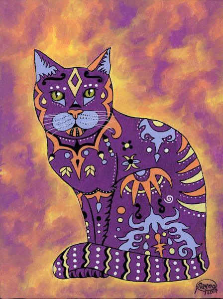 Original Artwork of ''Mystery Cat''