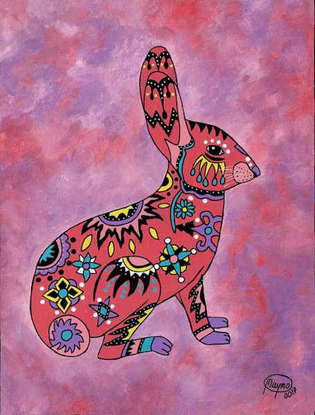 Original Acrylic on canvas of ''Wild Rabbit''
