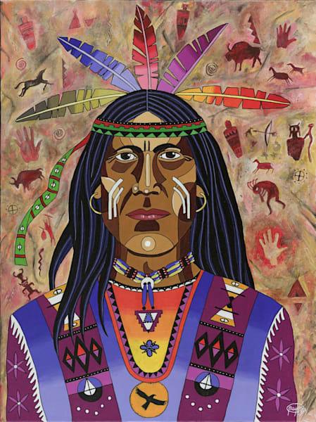 Original acrylic on canvas of ''Black Eagle''