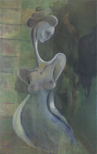 Figure Study In Green Art | Sandy Garnett Studio