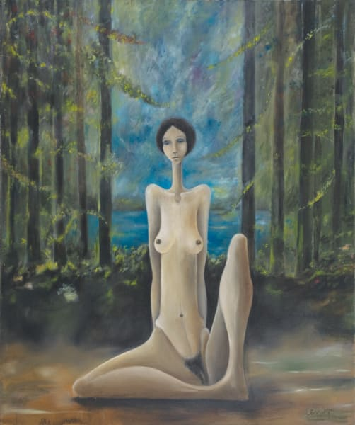 Seated Figure In Clearing Art | Sandy Garnett Studio