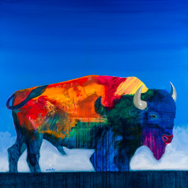Alpha Buffalo | John Nieto Open Edition Giclee