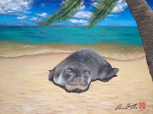 Marine Life Paintings | Sun Lounger by Desmond Thain