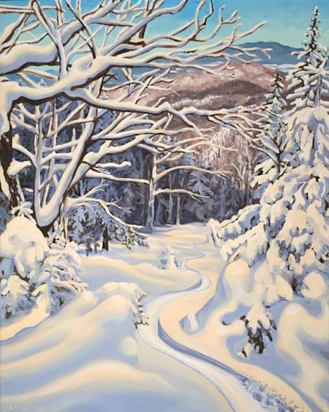 The Mother Vermont Ski Art for Sale