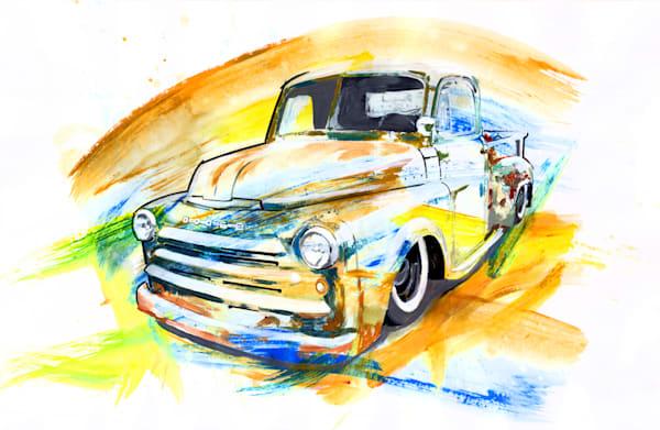 Dodge rust truck 2 print