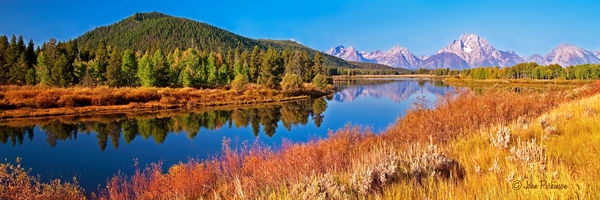 Oxbow Autumn with Mount Moran and Jackson Lake, Woming