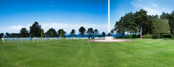Photo of Normandy, France, American Cemetary from WWII Oceanfront