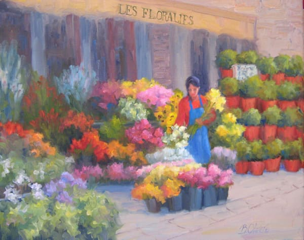 Flower Market on Rue Cler