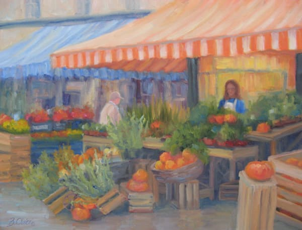 Market In The Mist Art | B. Oliver, Art