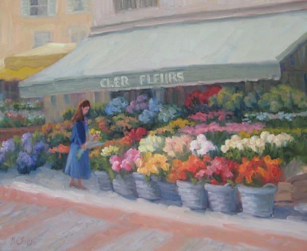 Parisian Flower Market Art | B. Oliver, Art